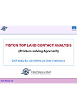 Piston top land contact analysis